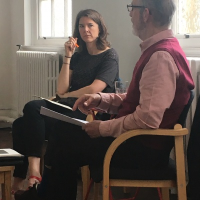 Fiona Cassidy & Michael Pennie in conversation at Drawing Projects UK 2017